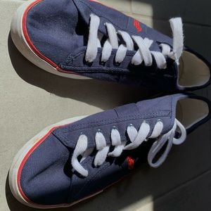 Red White and Blue Polo Canvas Shoes